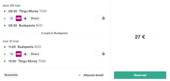 Zboruri-ieftine-Targu-Mures-Budapesta-Targu-Mures